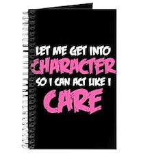 Like I Care White-Pink Journal
