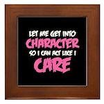 Like I Care White-Pink Framed Tile
