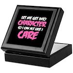Like I Care White-Pink Keepsake Box
