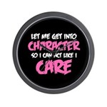 Like I Care White-Pink Wall Clock