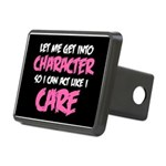 Like I Care White-Pink Rectangular Hitch Cover
