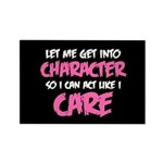 Like I Care White-Pink Rectangle Magnet (100 pack)