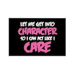 Like I Care White-Pink Rectangle Magnet