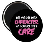 Like I Care White-Pink Magnet