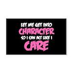Like I Care White-Pink Rectangle Car Magnet