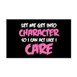 Like I Care White-Pink 35x21 Wall Decal