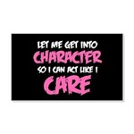 Like I Care White-Pink 20x12 Wall Decal