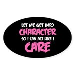 Like I Care White-Pink Sticker (Oval 50 pk)