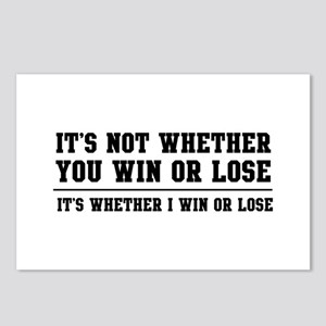 Whether win or lose Postcards (Package of 8)