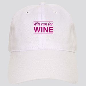 Will run for wine Baseball Cap