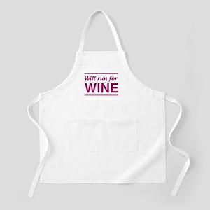 Will run for wine Apron
