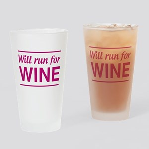 Will run for wine Drinking Glass
