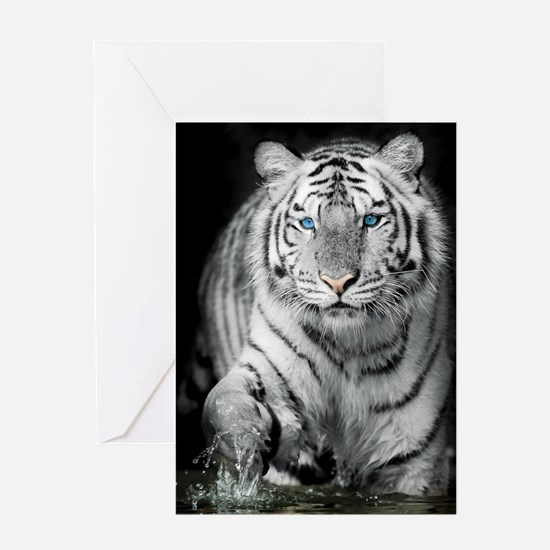 White Tiger Greeting Cards