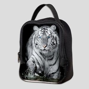 White Tiger Neoprene Lunch Bag