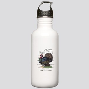 modern vintage fall turkey Water Bottle