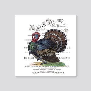 modern vintage fall turkey Sticker