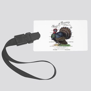 modern vintage fall turkey Luggage Tag