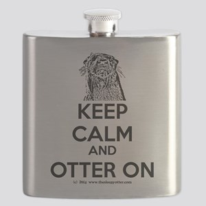 keep calm otter on - b Flask