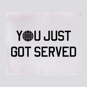 You got served vollyball Throw Blanket