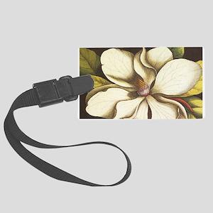 modern vintage fall magnolia flower Luggage Tag