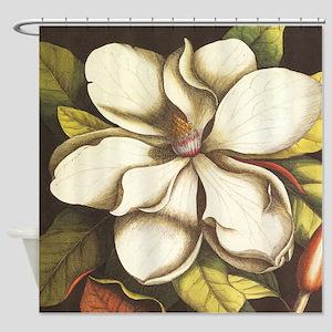 modern vintage fall magnolia flower Shower Curtain