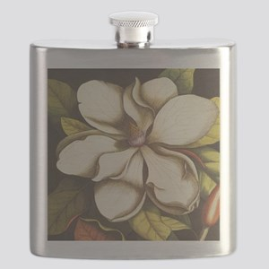 modern vintage fall magnolia flower Flask