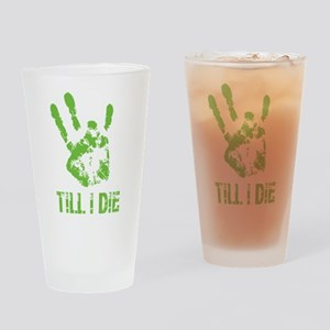 Vi Till I Die Drinking Glass