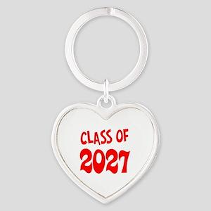 Class of 2027 Heart Keychain