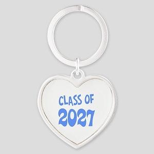Class of 2027 (blue) Heart Keychain