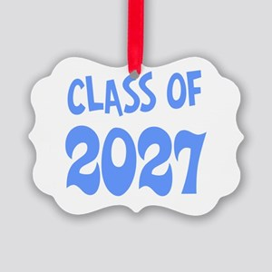 Class of 2027 (blue) Picture Ornament