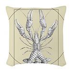 Vetruvian Crawfish1 Woven Throw Pillow