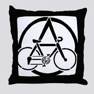ANARCO-CYCLIST Throw Pillow