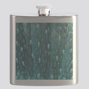 Shining Peacock Feathers Flask