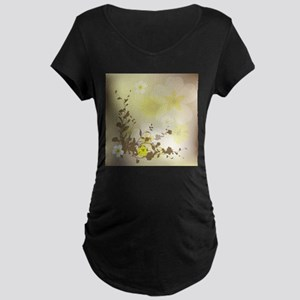Flowers Maternity T-Shirt
