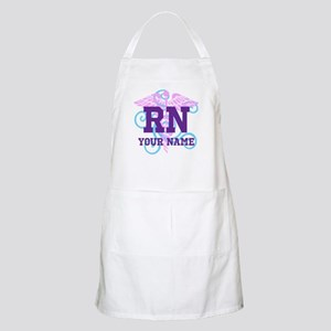 RN swirl with personalized name Apron
