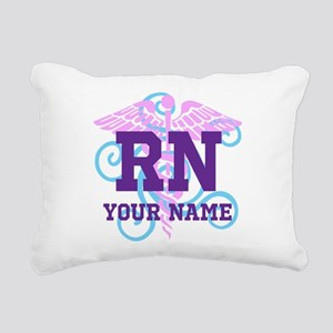 RN swirl with personalized name Rectangular Canvas