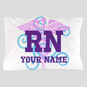 Rn Swirl With Personalized Name Pillow Case