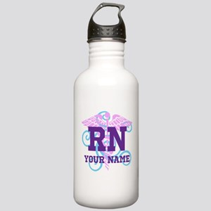 RN swirl with personalized name Water Bottle