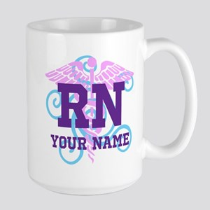 RN swirl with personalized name Mugs