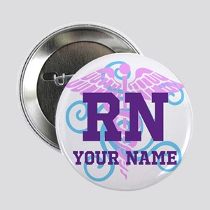 """Rn Swirl With Personalized Name 2.25"""" Button"""