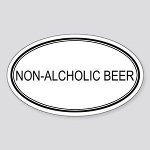 NON-ALCHOLIC BEER (oval) Oval Sticker