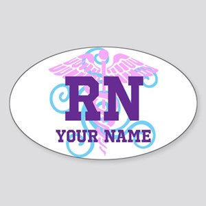 Rn Swirl With Personalized Name Sticker
