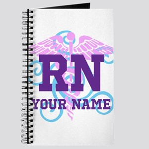RN swirl with personalized name Journal