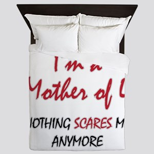 Nothing Scares Mom 4 Queen Duvet