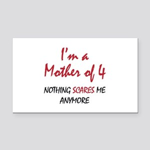 Nothing Scares Mom 4 Rectangle Car Magnet