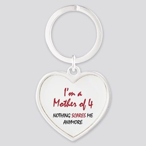 Nothing Scares Mom 4 Heart Keychain