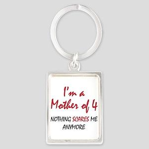 Nothing Scares Mom 4 Portrait Keychain