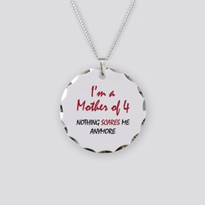 Nothing Scares Mom 4 Necklace Circle Charm