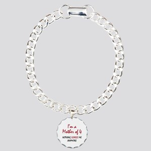 Nothing Scares Mom 4 Charm Bracelet, One Charm