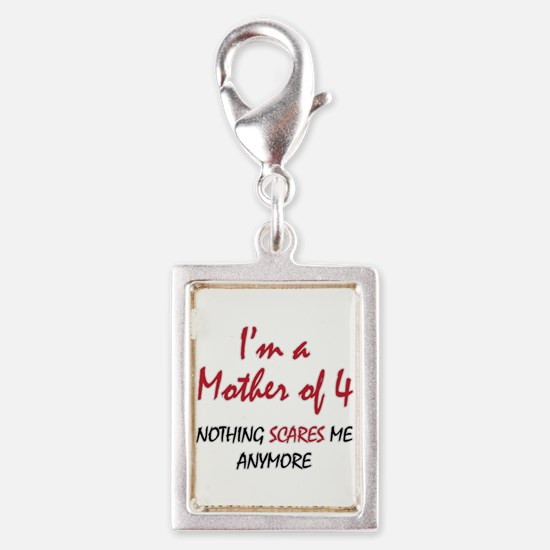 Nothing Scares Mom 4 Silver Portrait Charm